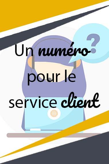 Un numéro poru le service client